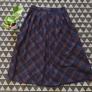 ✨Vintage Plaid Midi Skirt